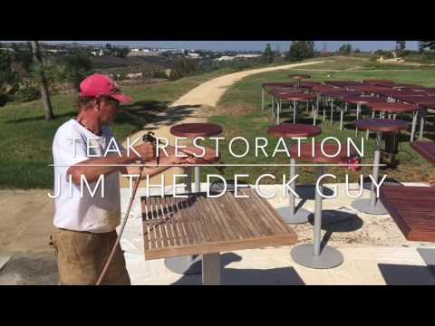 Teak & Ipe Restoration.