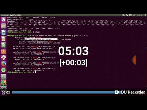How to Find App Activity and App Package name of app for Appium script in LINUX | UBUNTU |