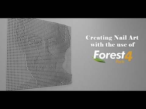 Creating a Nail Art Piece With Forest Pack Pro