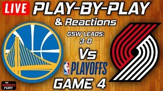 Download Warriors vs Trail Blazers Game 4   Live Play-By-Play & Reactions Video