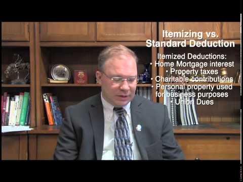 Itemizing vs Standard Deduction
