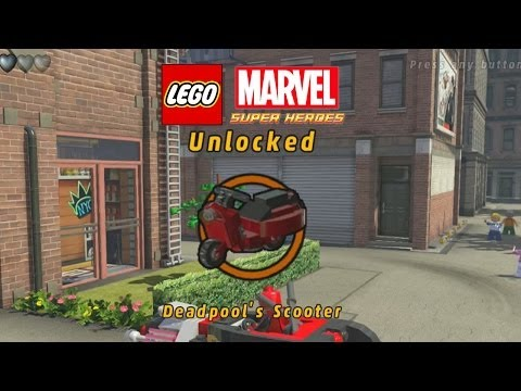 Lego Marvel-Unlock Deadpool Scooter-1st Deadpool mission
