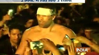 The Great Khali Gets His Revenge, Trounces 3 Wrestlers Alone in Dehradun