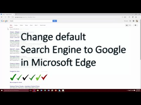 How to change default search engine to Google in Microsoft Edge on Windows 10