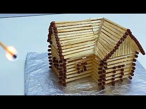 How to Make a Match House With Glue