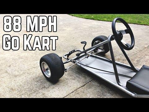 88 MPH DeLorean Kart Build Pt.1 | Vintage Go Kart Chassis