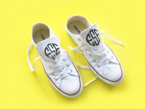 Easy DIY Monogrammed Sneakers with Jane Francisco!