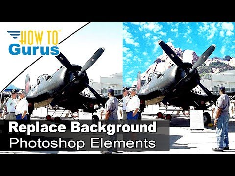 How to Remove and Replace Background Replace Sky in Photoshop Elements 2018 15 14 13 12 11 Tutorial
