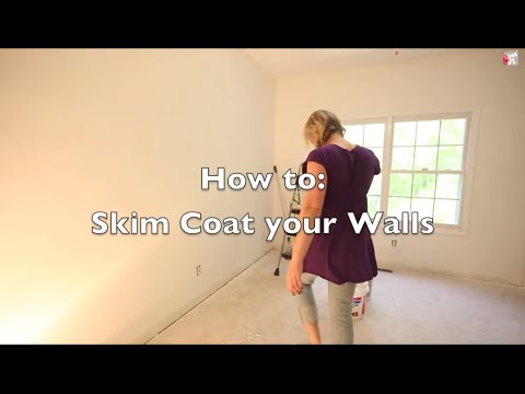 Skim Coat Ugly Textured Walls - Magic Trowel
