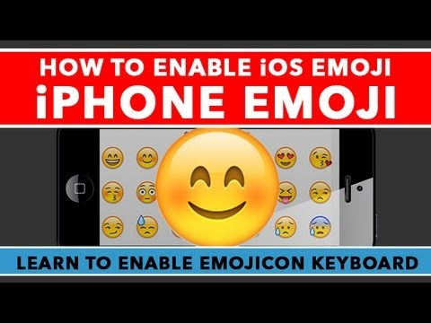 How To Turn On Emoji Keyboard On iPhone - Enable iOS 6 Emojicon Keyboard