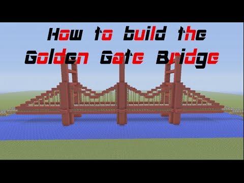 Minecraft Tutorial: how to build the Golden Gate Bridge