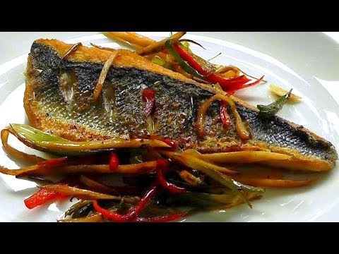 Pan Fried SEA BASS Stir Fry tasty healthy recipe How to cook