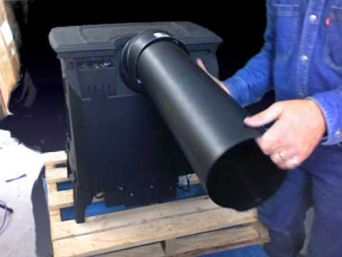 installing the rear vent   Napoleon DV gas stove