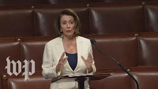 Watch Pelosi speak on the House floor live