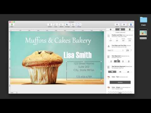 How to create your own business cards on your Mac