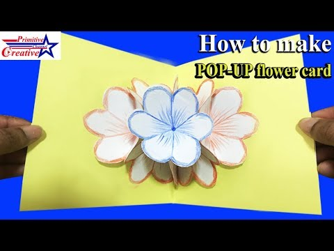 POP-UP flower card, DIY 3D card