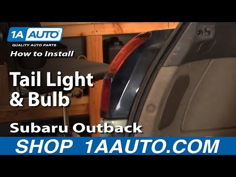 How To Install Replace Tail Light and Bulb Subaru Outback 00-04 1AAuto.com