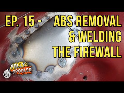 Lexus SC Drift Build. Ep.15 - ABS Removal and Welding the Firewall