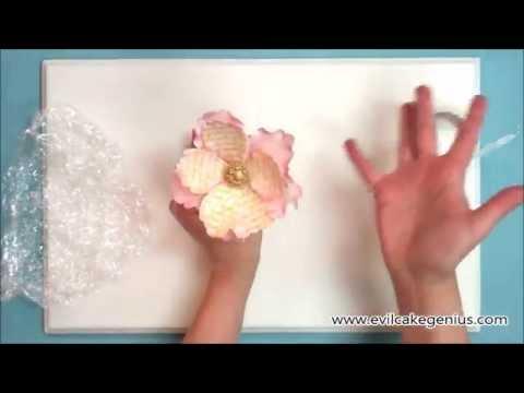 Evil Cake Genius Vintage Poetry Gumpaste Flower