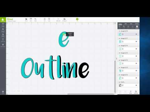 Outline words in Cricut Design Space