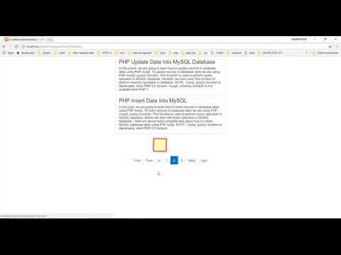 Create Pagination in PHP, MYSQL, JQUERY and AJAX