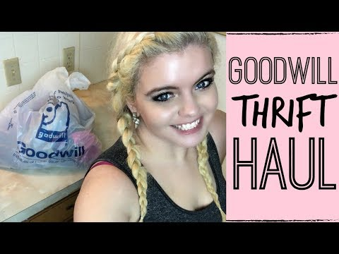 GOODWILL HAUL | THRIFTING GYM CLOTHES & BATHING SUITS | SPRING 2018