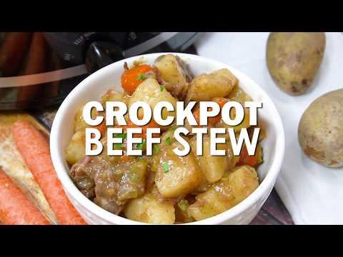 Crockpot Beef Stew Recipe (Slowcooker Recipes)