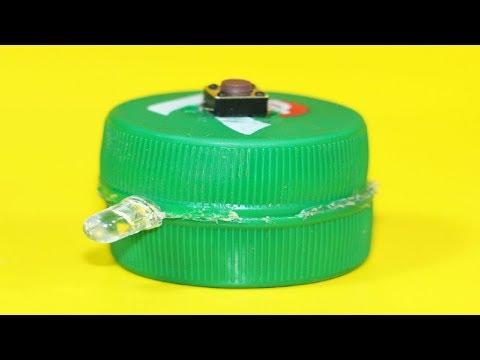How to Make a Mini Led Flashlight using Plastic Bottle Cap