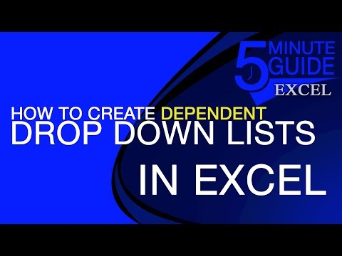 How to Create 2 Dependent Drop-Down Lists With 1 to 2 Relationship in Excel