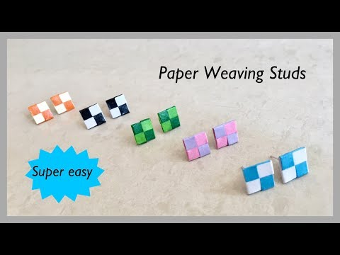 Quilling Paper Weaving Studs / Paper Weaving Studs Charm | Priti Sharma