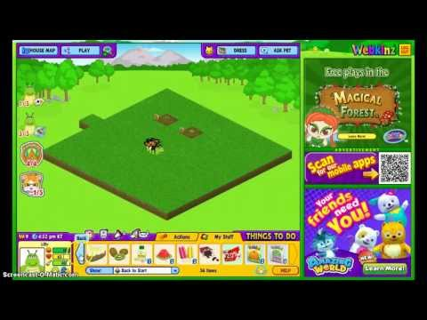 how to make a garden on webkinz
