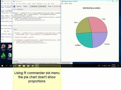 Create a pie chart - R Commander