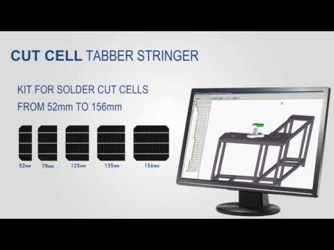 Cut Solar cell Tabber Stringer machine