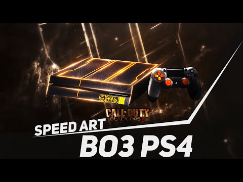 Photoshop Speed Art #31: Black Ops 3 Limited Edition Console PS4   BazDZN
