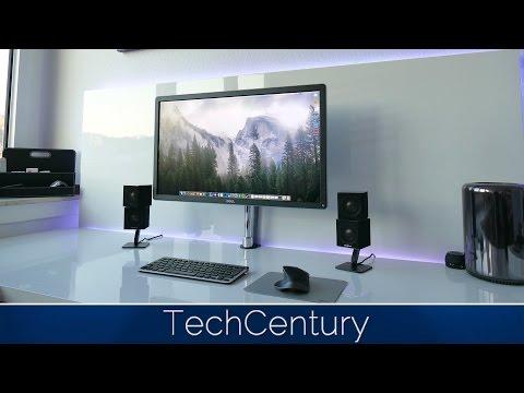 TechCentury Geek Desk Tour 2015 in 4K / Mac Pro, 4K Monitor, Logitech Master