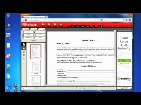 How to Edit a PDF File : How to Edit a PDF File