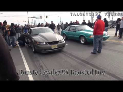 New Years Day Street Racing 2014 Mustang DSM CTSV Camaro Impala & more heads up