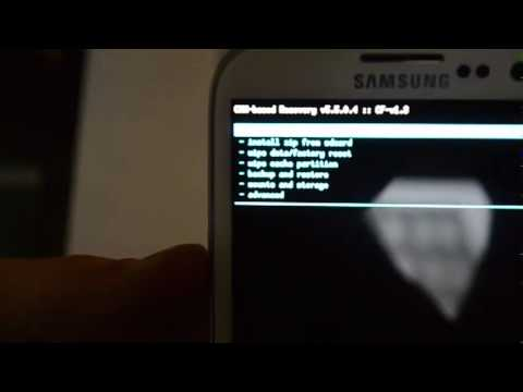 Reset Galaxy S3 to factory state after rooting.