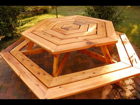 How to Build a Picnic Table - How to Build a Planter Box - Hexagonal Picnic Table [Part 2 of 3]