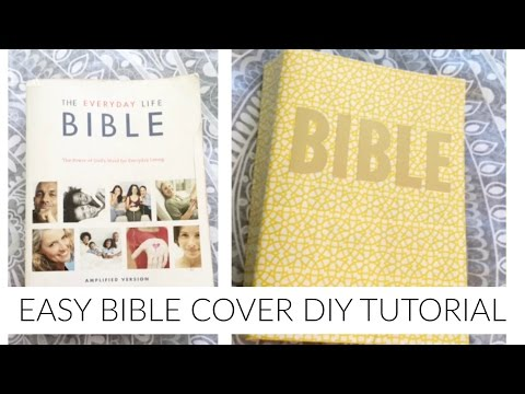 Easy and CHEAP DIY Bible Cover! |IM2JAZZY