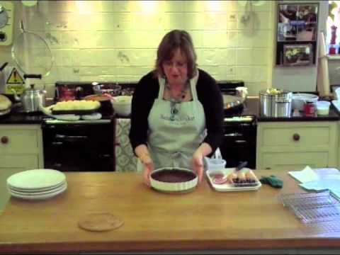 How to make Blueberry & Chocolate Tart with Sarah Whitaker at Aga Twyford