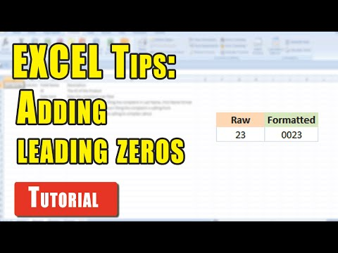 Excel Tips: Add leading zeroes/0's to existing Excel values