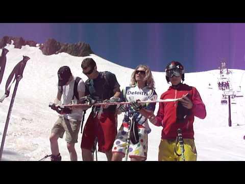 Shot Ski - Drinking Shots from a Shot Ski at Squaw