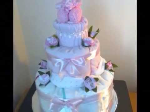 My 2nd nappy cake and baby blanket bouquet