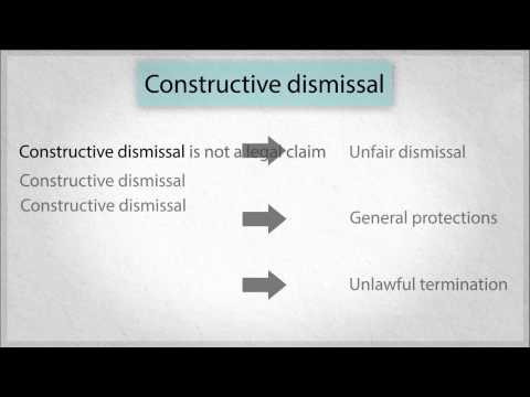 Losing Your Job: 6. Constructive dismissal