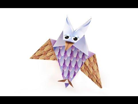 Halloween Origami Owl - Tutorial DecOrigami - How to make an easy origami owl