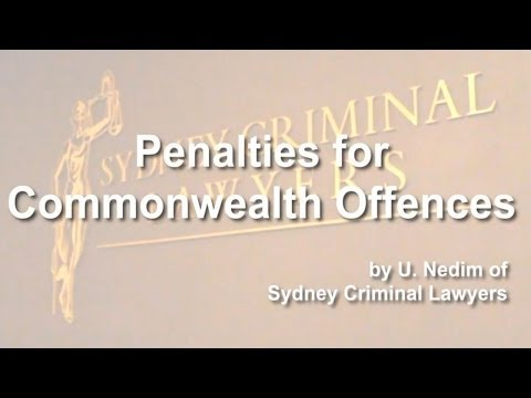 Penalties for commonwealth offences