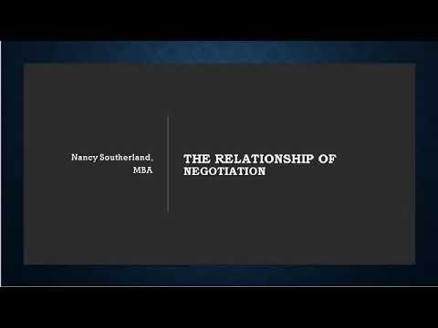 MKTG 3740 The Relationship of Negotiation