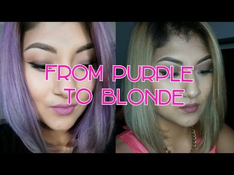 How to remove purple from hair| KManzo01