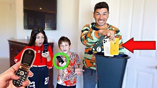 Getting rid of kids iPhone and giving them flip phones (Prank Gone Wrong)